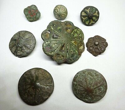 Collection of buttons with enamel 9-11 century