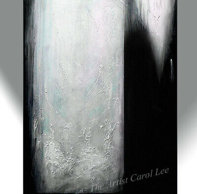 Abstract painting original modern fine art acrylic black white artistcarollee