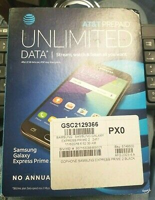 Samsung Galaxy J3 Sm-j327a Galaxy Express Prime 2 (AT&T ONLY) Phone 16gb - Black