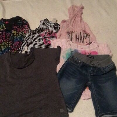 Assorted shorts and blouses size 10 medium girls