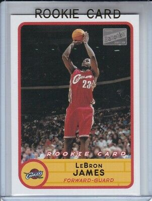 2003-04 Topps Bazooka Lebron James #223 Rookie Red Uni Rc 4X Mvp New To Lakers