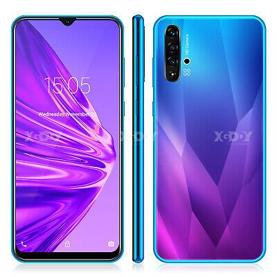 Android 9.0 Unlocked Cell Phone 6.6 inch 2SIM Smartphone Quad Core Cheap Phablet