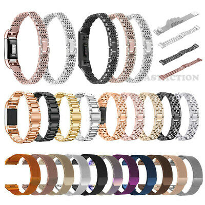 For Fitbit Charge 2 3 Ionic Inspire Watch Band Replacement Metal Strap Bracelet
