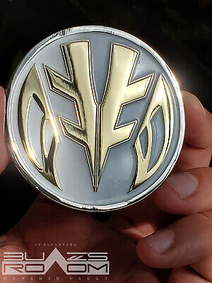 Morphin power tigerzord challenge mighty no morpher coin Rangers white metal