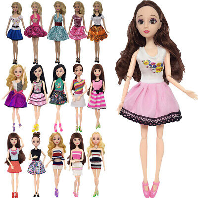 Lovely Girl Doll Clothes Set Casual Wear  Outfits Daily Dresses For Barbie Doll