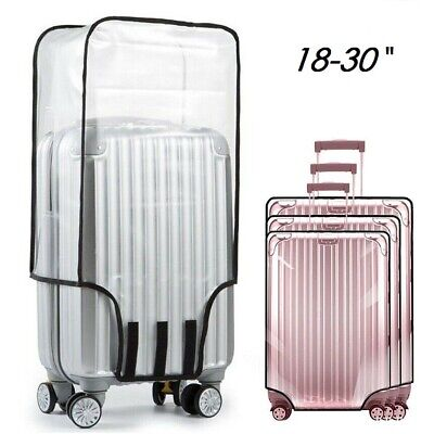 Clear PVC Plastic Suitcase Cover Travel Luggage Rain/Dust Proof Protector Covers