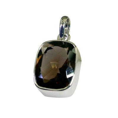 Brown 925 Sterling Silver genuine bewitching Smoky Quartz supply Pendant AU gift