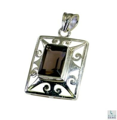 Brown 925 Sterling Silver genuine enticing Smoky Quartz wholesale Pendant AU