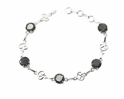 grand Smoky Quartz 925 Solid Sterling Silver Brown Bracelet Natural generally US