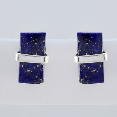 appealing Lapis Lazuli 925 Sterling Silver Blue Earring Natural wholesale US