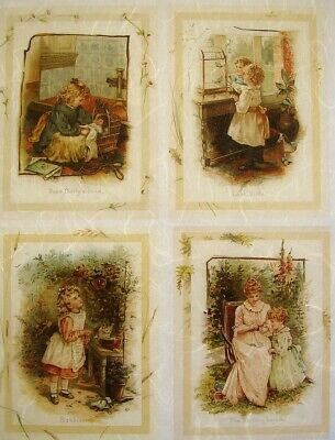 Rice Paper Decoupage Scrapbook Craft Sheet Old Accounts and Girl 475