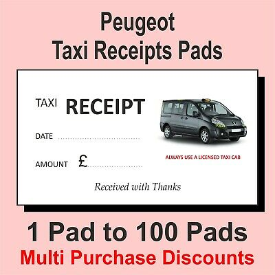 Black Cab Licensed Taxi Receipt Pads with Multi Saver options