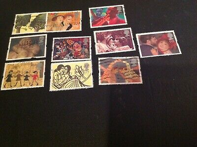 Gb 1995  Complete  Set Of 10  Greetings In Art    Stamps   Used