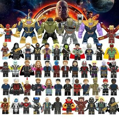 Lego Avengers Minifigures 100+ Marvel DC Thor Infinity War End Game Super Heroes