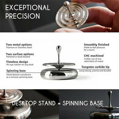Creative Stainless Steel Mini Spinner Top Super Precision Educational Kids Toy