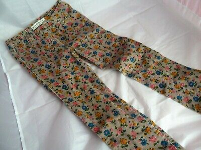 Mini Boden Corduroy Floral Patterned Girls Trousers Size 9 years