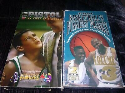 The Pistol The Birth of a Legend & Pro Basketball Funniest Pranks - 2 vhs's