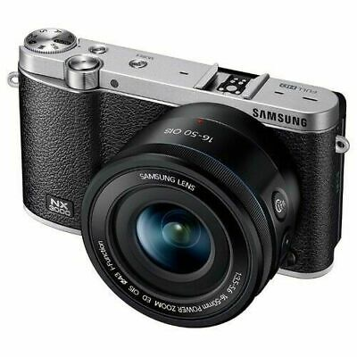 Samsung NX NX3000 20.3MP Digitalkamera - Schwarz (Kit mit ED 20-50 mm Objektiv)