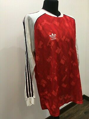 Details zu VINTAGE '80 Adidas Trikot #10 Jersey Gr 56 M Made in West Germany Rot Red VNeck