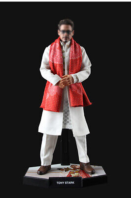 "1/6 Scale Iron Man Tony Stark White Lover Indian Clothes Set for 12"" Figure"