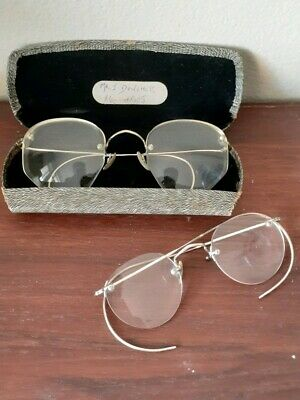 Two Pairs Of Vintage Antique Eyeglasses Spectacles