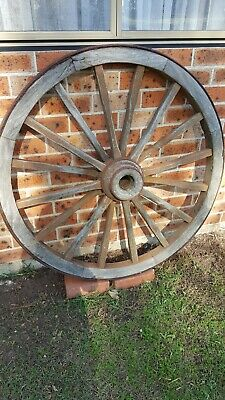 Antique Wooden Wagon Wheel Large