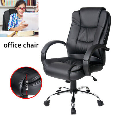 Office Chair Computer Chairs Racing Executive Leather Seating Home Work Black AU
