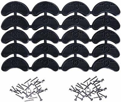 10 Pairs Rubber Sole Heel Savers Toe Plates Tap Glue On Shoe Repair Pad W/ Nails