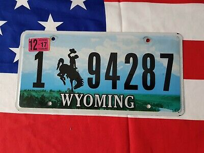 Plaque d'immatriculation Wyoming 1 94287 US USA license plate