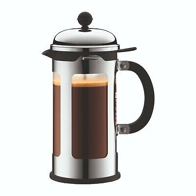 Bodum Chambord French Press coffee maker, 8 cup, Stainless Steel/Shiny, 11172-16