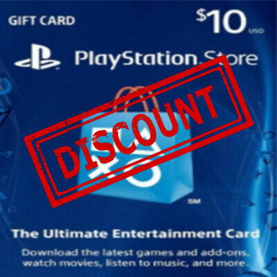 PlayStation Network Gift Card 10 USD PSN UNITED STATES - Discounted