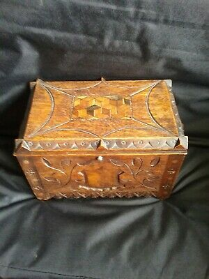 Antique  Black Forest wooden  Carved Box , casket