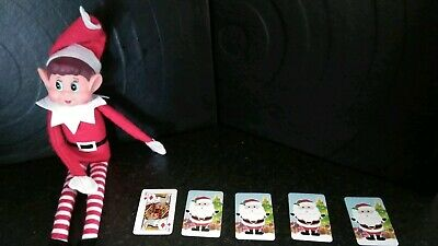 NAUGHTY ELF ON THE LEDGE PROP, ACCESSORIES mini christmas playing cards