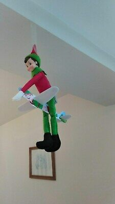 ELF ON THE LEDGE PROP, ACCESSORIES  Christmas theme airplane glider