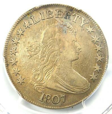 1807 Draped Bust Half Dollar 50C Coin O-105 - Certified PCGS VF Details!