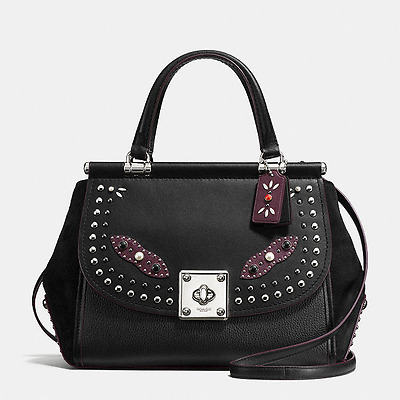 $795 NWT COACH  western rivets drifter carryall in glovetanned leather 57120