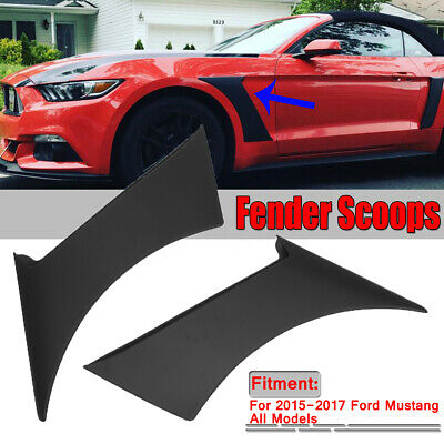 3D Style Fender Vents For 2015-2017 Ford Mustang Racing Air Flow Stick-on Trim
