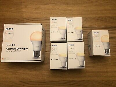 Phillips Hue Bundle, Starter kit, 4x GU10 and 2 extra E27. Great condition