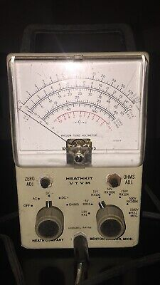 Heathkit VTVM Model IM-18 EICO UNI PROBE Vacuum Tube Volt Meter Mercer WORKING