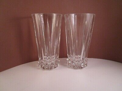 Rosenthal Classic Germany Blossom Pair of Highball Glasses Clear Glass