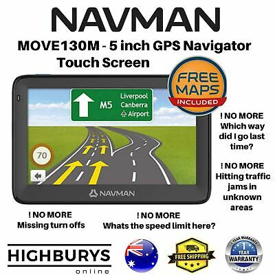 "Navman MOVE120M 5"" Touch GPS Navigator w/ Speed and Safety Alerts Avoid Traffic"