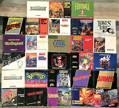 Authentic Nintendo NES Manuals Booklets - Good - 28 to Pick From, You Choose