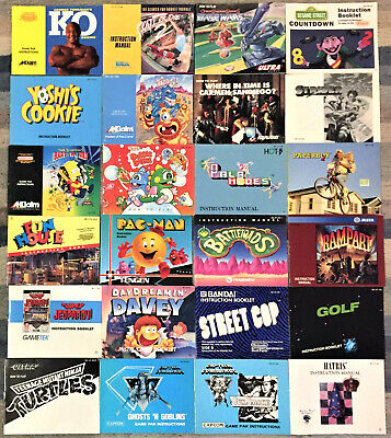 Authentic Nintendo NES Manuals Booklets - Very Good, 24 to Pick From, You Choose