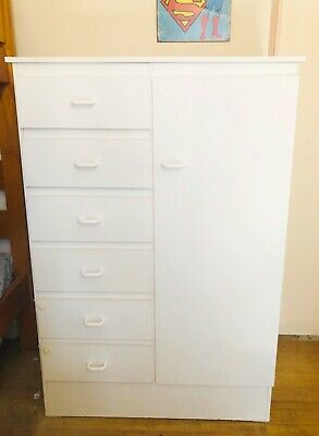 Nursery robe (white) drawers MADE IN MELBOURNE