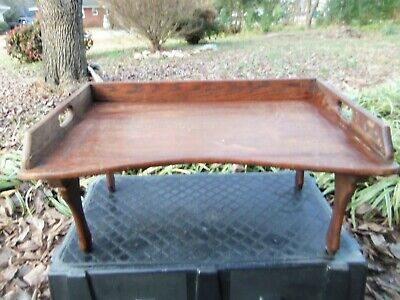 Antique Wooden Lap Desk Bed Tray Folding tv tray