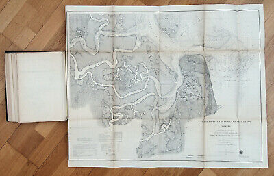 1869 US Report of the Superintendent of the US Coast Survey Book with 28 Maps