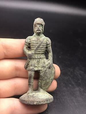 Wonderfull Old Byzntine Roman Bronze Ancient Chass Pice Antique Statue