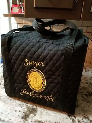 Singer Featherweight Sewing Machine Tote Cover w/CHOICE of badge 221 222