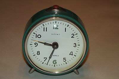 Antique Alarm Clock Mechanical Years 70 Vintage 1970 Deco Design Loft / Clock