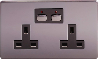 Energenie Remote And app Controlled Black Nickel Double Wall Socket Quality Use